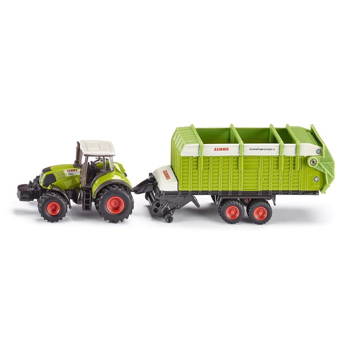 Набор Siku Трактор с загрузочным бункером 1:87 - зеленый