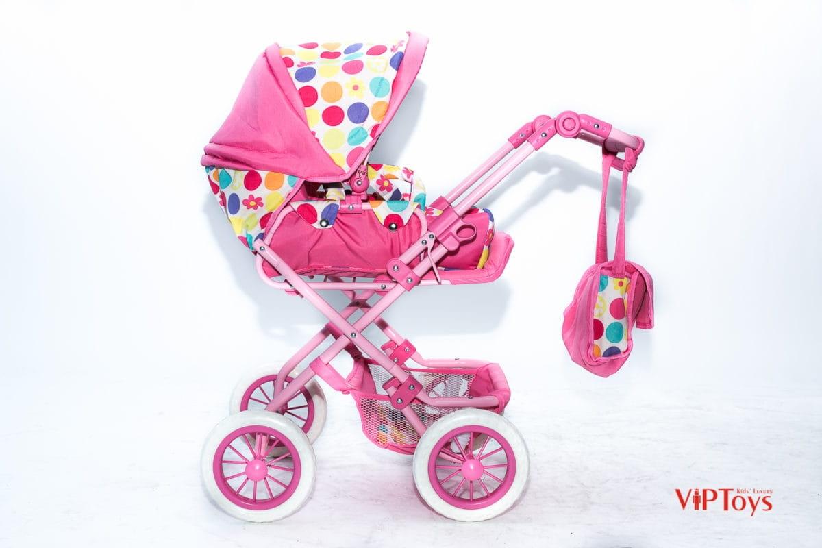 Коляска-трансформер для кукол VIP TOYS с сумочкой