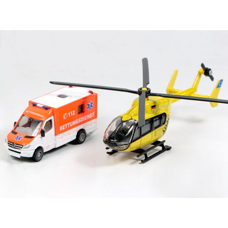 Набор SIKU Скорая помощь - фургон и вертолет