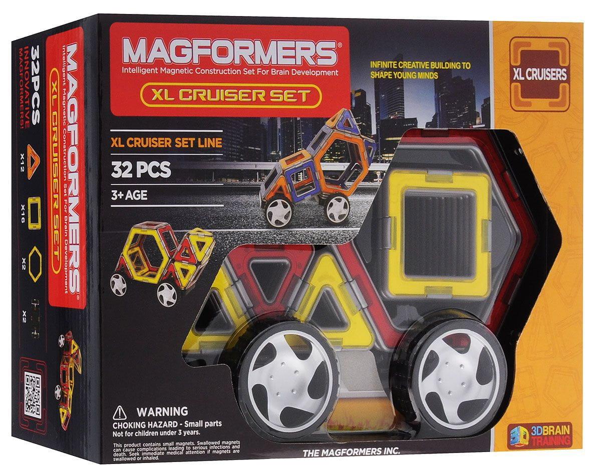 Конструктор Magformers 706001 (63073) XL Cruisers с колесами Машины (30 деталей)
