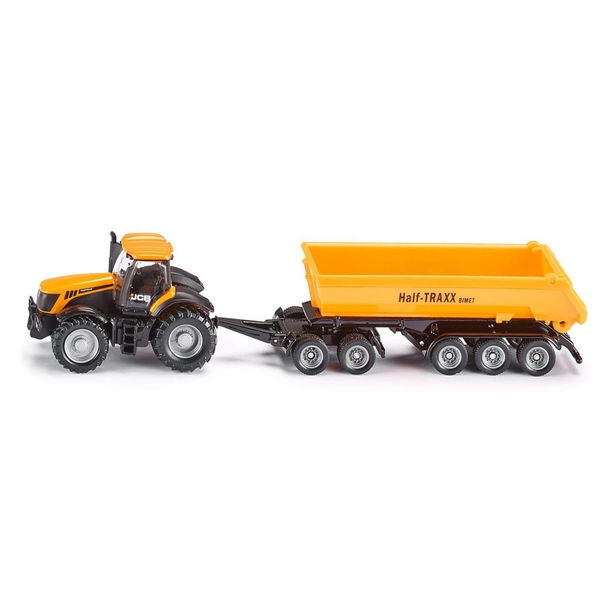 Трактор SIKU с прицепом-кузовом - желтый