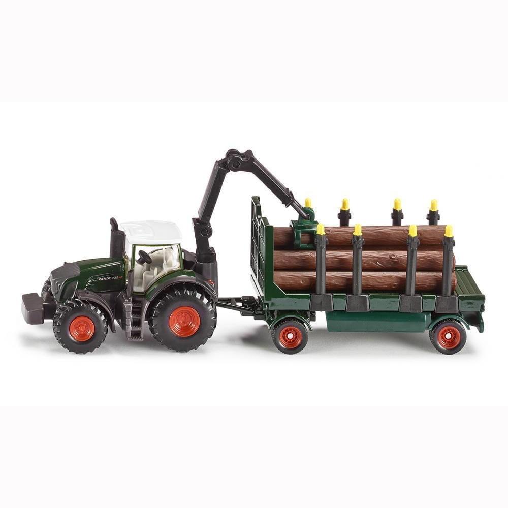 Трактор Siku с прицепом с бревнами 1:87