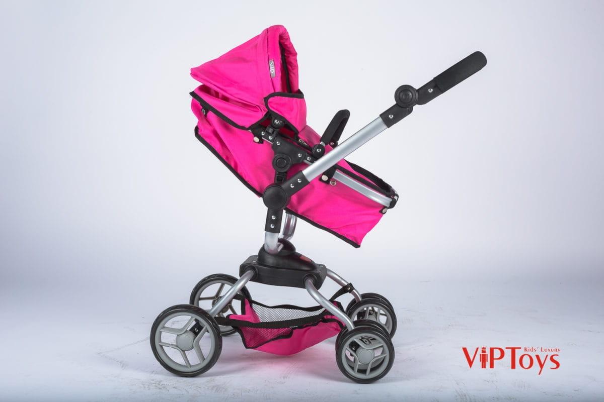 Коляска-трансформер для кукол VIP TOYS поворотная - розовая