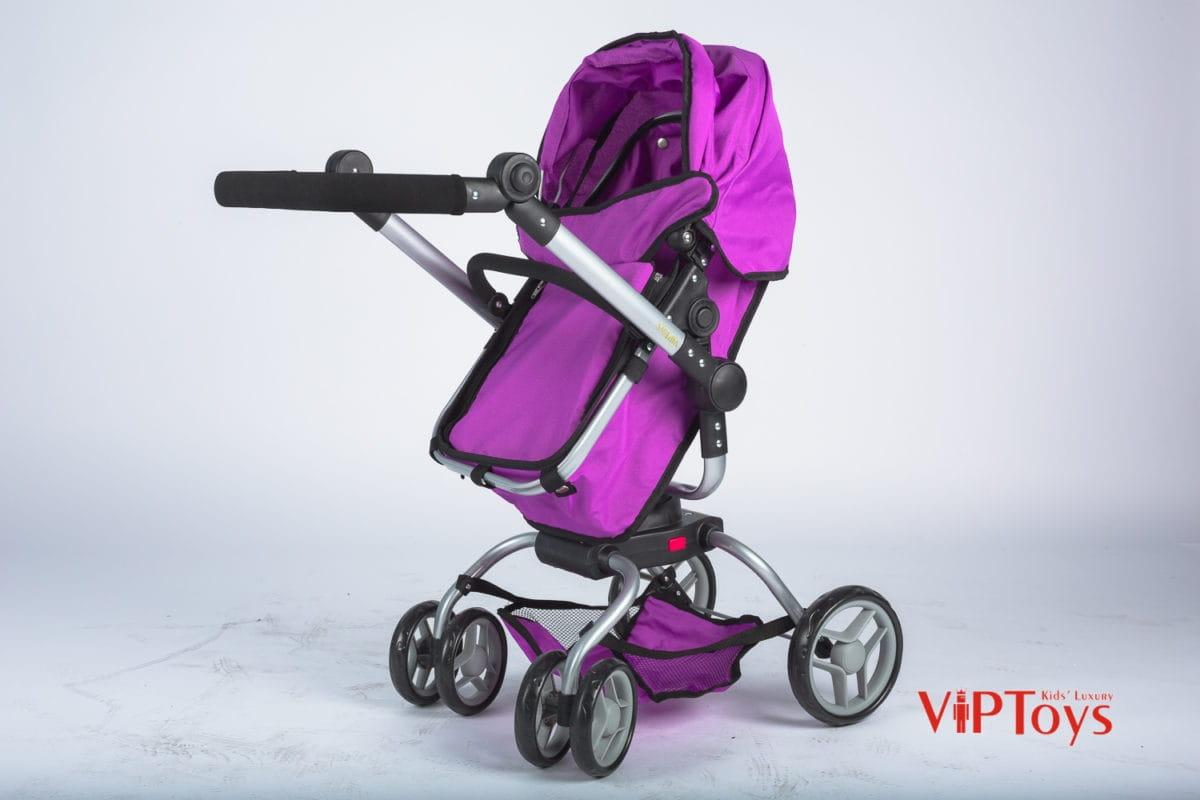 Коляска-трансформер для кукол VIP TOYS поворотная - фиолетовая