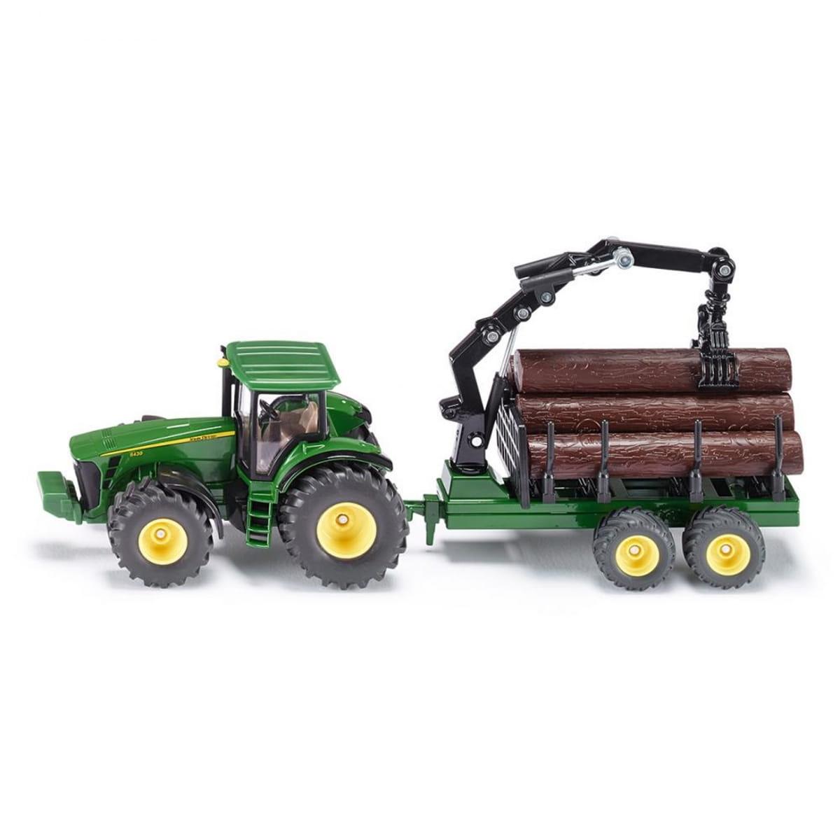 Трактор SIKU с трейлером для лесоматериалов