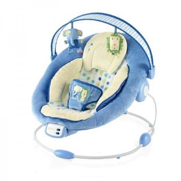 Купить Кресло-качалка Bright Starts Комфорт и гармония (бежево-голубое) в интернет магазине игрушек и детских товаров