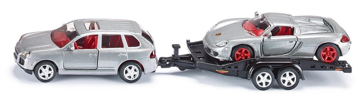 Набор SIKU Машина с прицепом и спортивной машиной