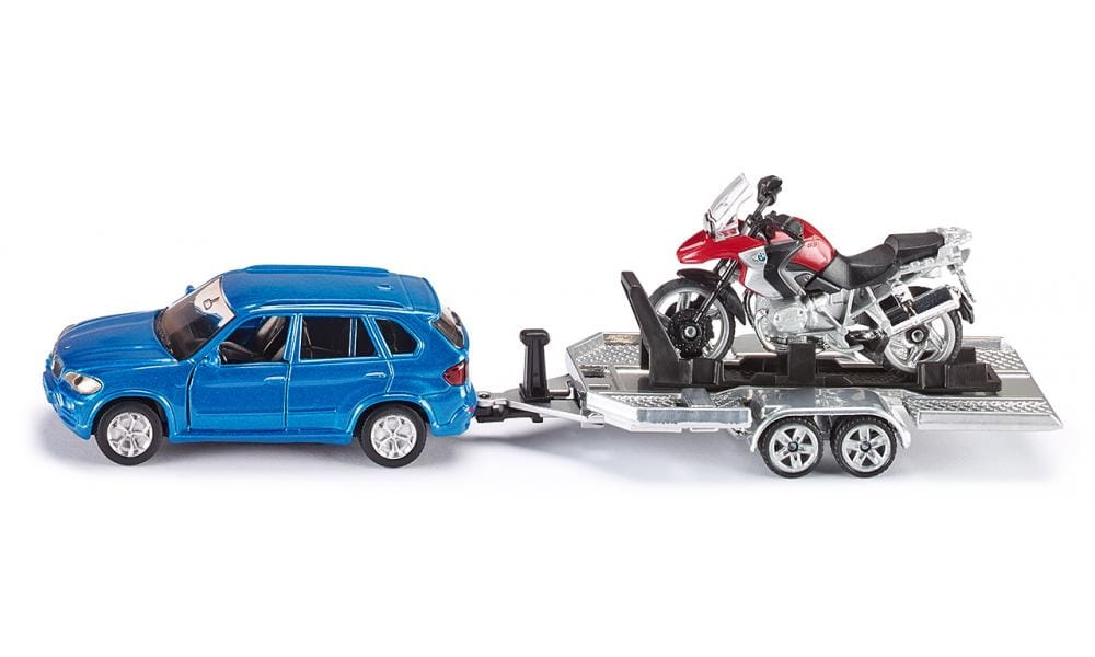 Набор SIKU Автомобиль BMW с прицепом и мотоциклом