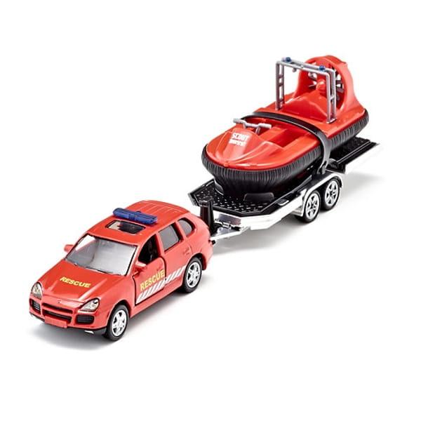 Набор SIKU Автомобиль и прицеп с лодкой на воздушной подушке