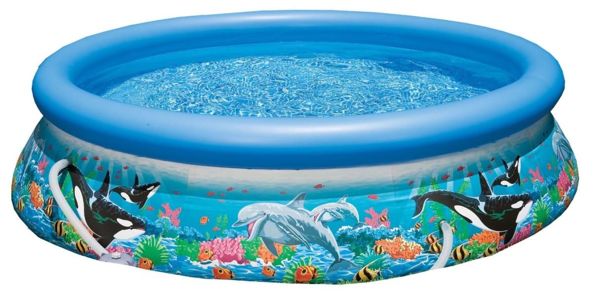 Надувной бассейн Intex 28126 Easy Set Океанский Риф 305х76 см (с фильтр-насосом 1250 л/ч)
