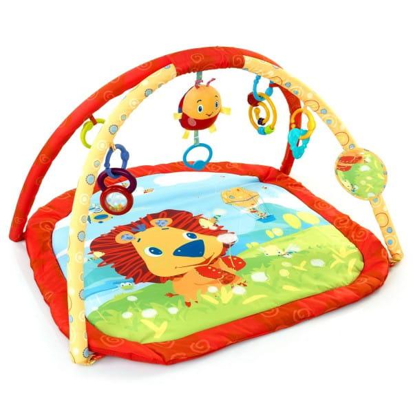 Купить Развивающий коврик Bright Starts Львенок на лугу в интернет магазине игрушек и детских товаров