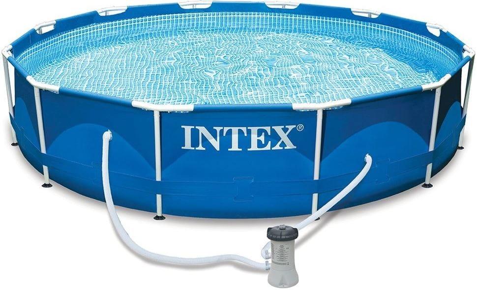 Каркасный бассейн Intex 28212 Metal Frame 366х76 см (с фильтр-насосом 2006 л/ч)