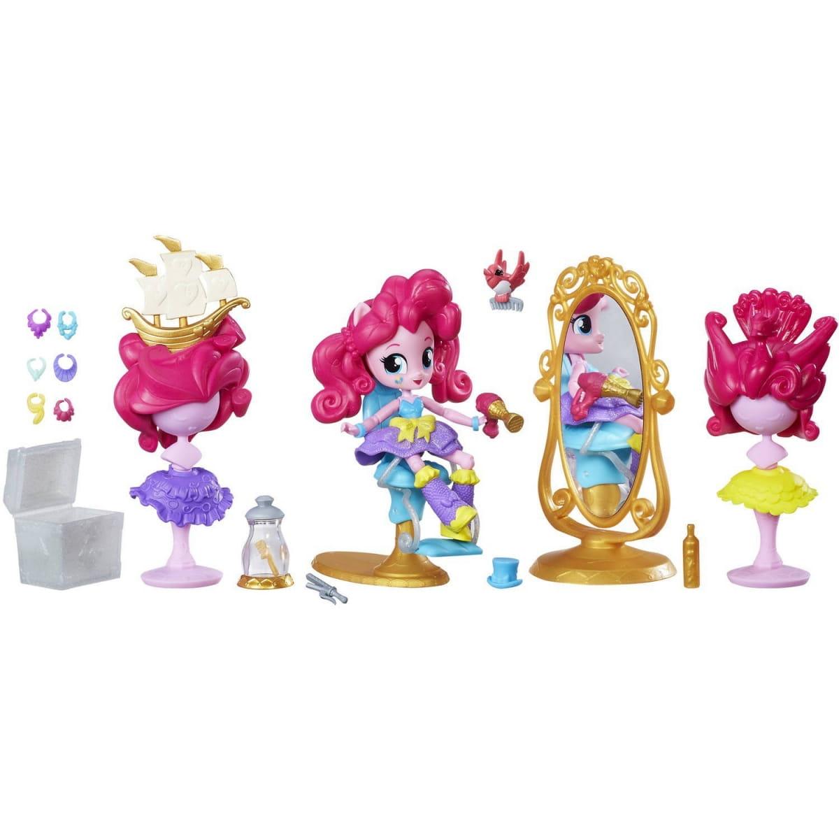Игровой набор с мини-куклой My Little Pony Equestria Girls Пижамная вечеринка  Салон красоты Пинки Пай (HASBRO) - My Little Pony