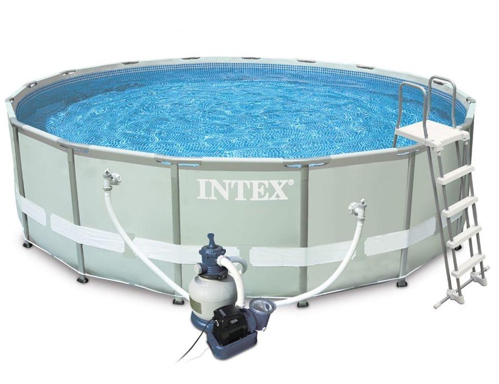 Каркасный бассейн INTEX Ultra Frame 488х122 см (с песочным фильтр-насосом)