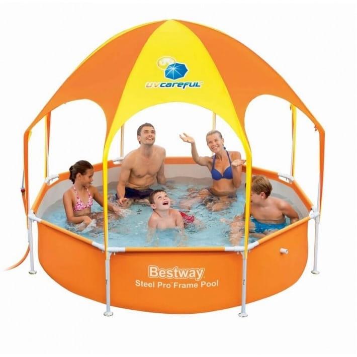 Каркасный бассейн Bestway 56432 BW 244х51 см (с навесом)