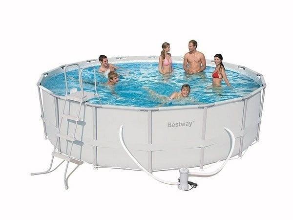 Каркасный бассейн Bestway 56280 BW 549х132 см (с песочным фильтр-насосом)