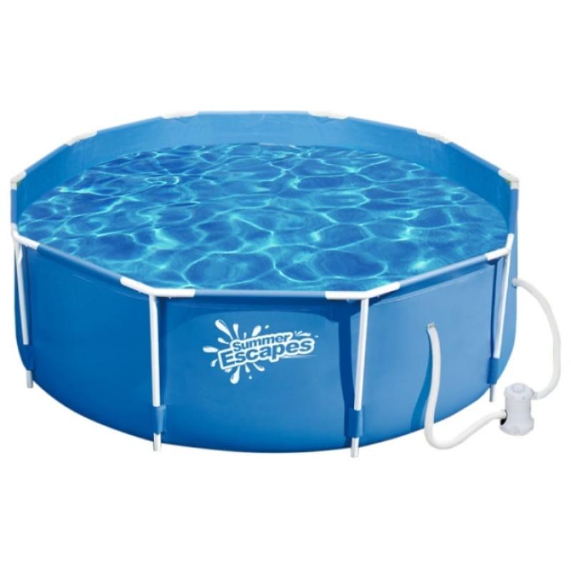 Каркасный бассейн POLYGROUP 366х132 см (с фильтр-насосом 3000 л/ч)