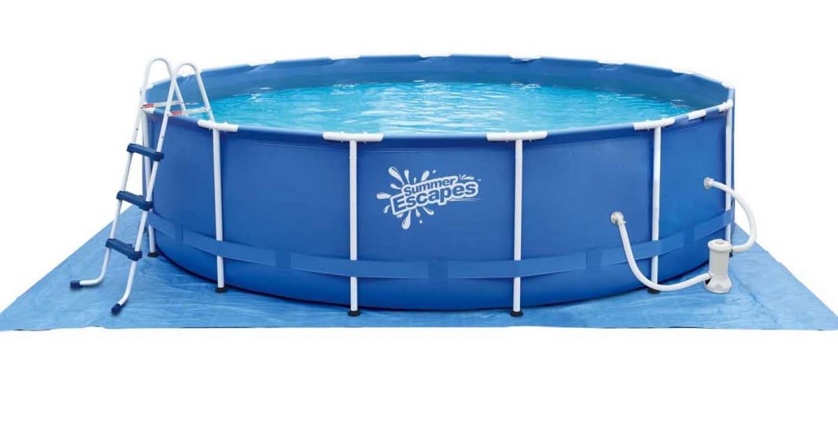 Каркасный бассейн POLYGROUP 396х132 см (с фильтр-насосом 3000 л/ч)