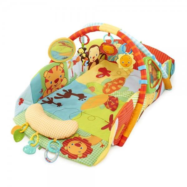 Купить Развивающий коврик Bright Starts Тропическая саванна в интернет магазине игрушек и детских товаров