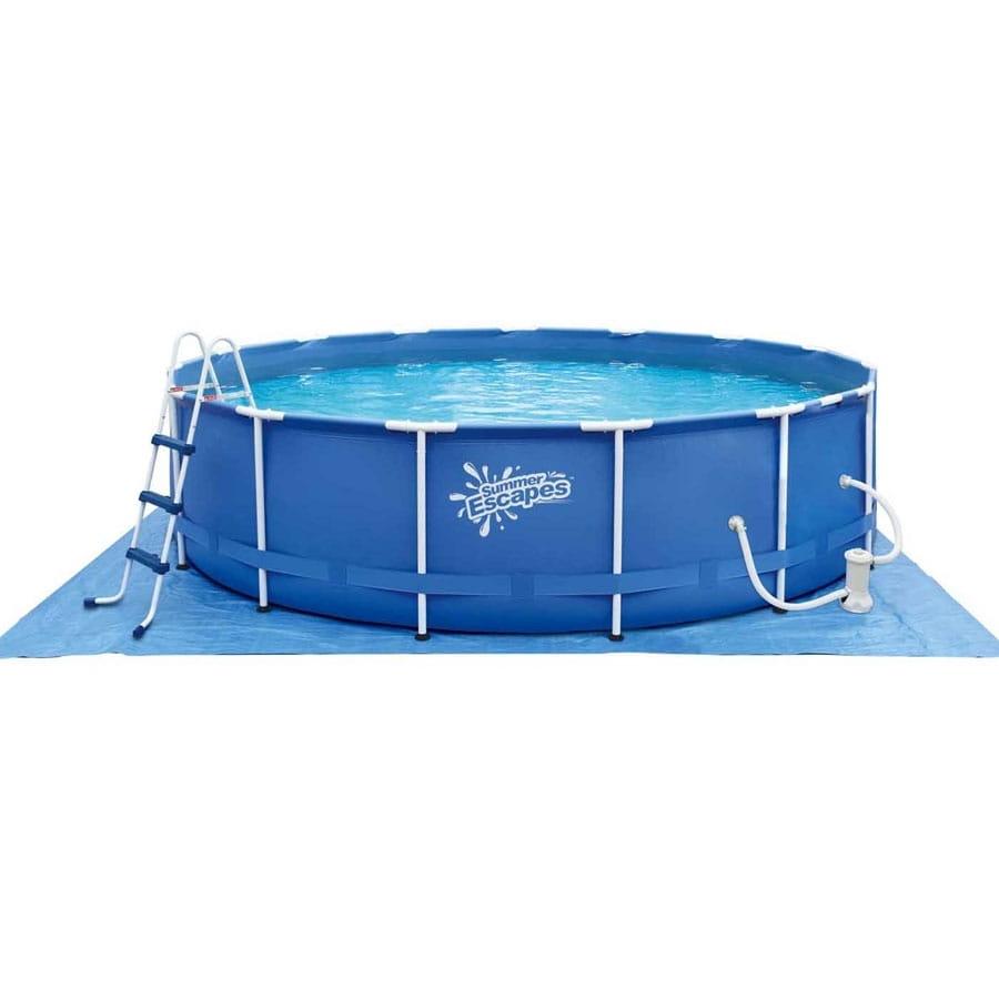 Каркасный бассейн Polygroup Р20-1552-B 457х132 см (с фильтр-насосом 3000 л/ч)