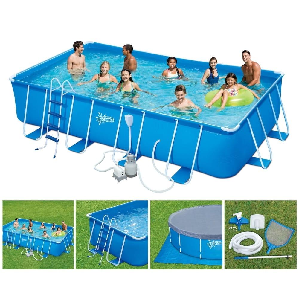Каркасный бассейн Polygroup Р20-2052-S 549х274х132 см (с песочным фильтр-насосом)