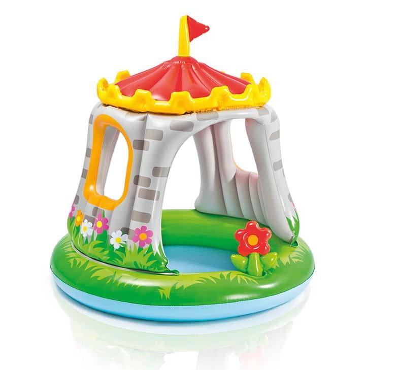 Детский бассейн Intex 57122 Крепость 122х122 см (с навесом)