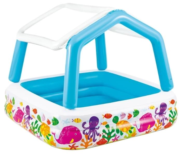 Детский бассейн Intex 57470 Домик 157х157х122 см (с навесом)