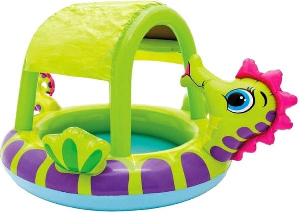 Детский бассейн Intex 57110 Морской конек 188х147х104 см (с навесом)