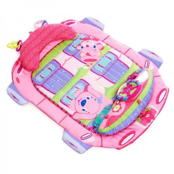 Купить Развивающий коврик Bright Starts Розовый автомобиль в интернет магазине игрушек и детских товаров