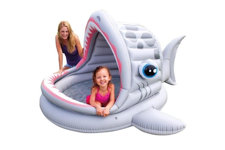 Детский бассейн Intex 57120 Акула 201x198x109 см (с навесом)