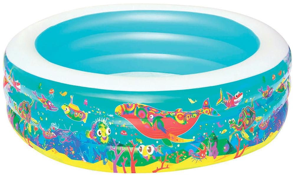 Детский бассейн Bestway 51122 BW Подводный мир 196х53 см