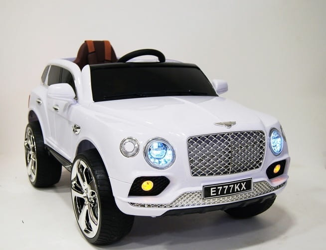 Электромобиль River Toys Bentley E777KX с дистанционным управлением (белый)