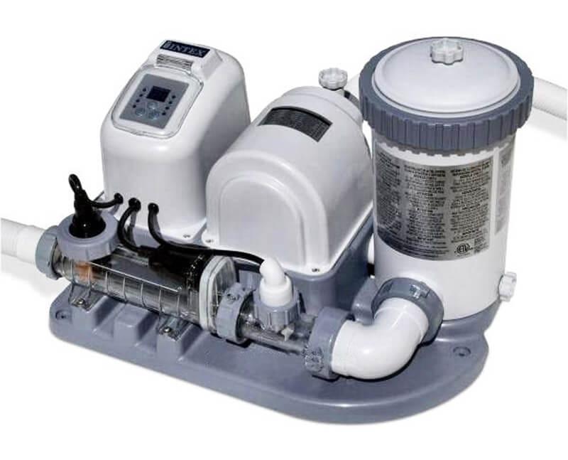Хлоргенератор INTEX Krystal Clear для бассейна до 26500 л с фильтр-насосом 4542 л/ч (система морской воды)