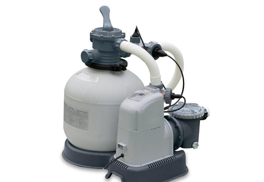 Хлоргенератор Intex для бассейна до 56.8 м3 с песочным фильтр-насосом 10000 л/ч (система морской воды)