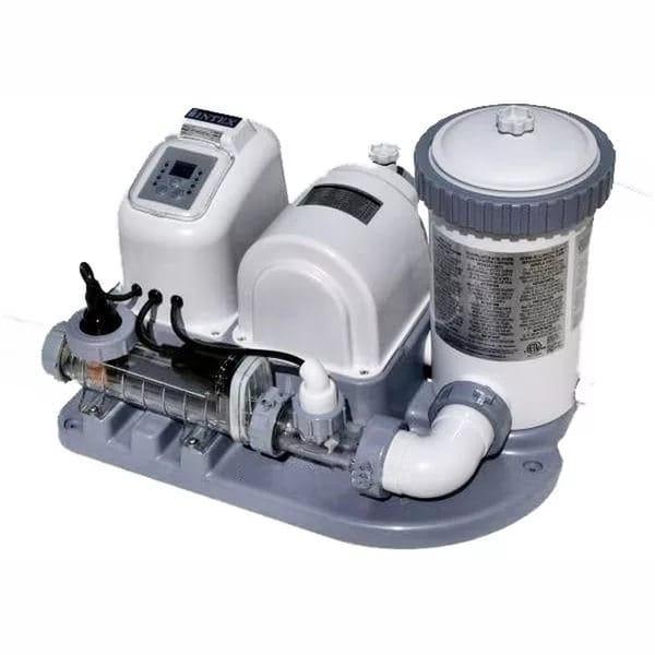 Хлоргенератор INTEX для бассейна до 26500 л с фильтр-насосом 4542 л/ч (система морской воды)