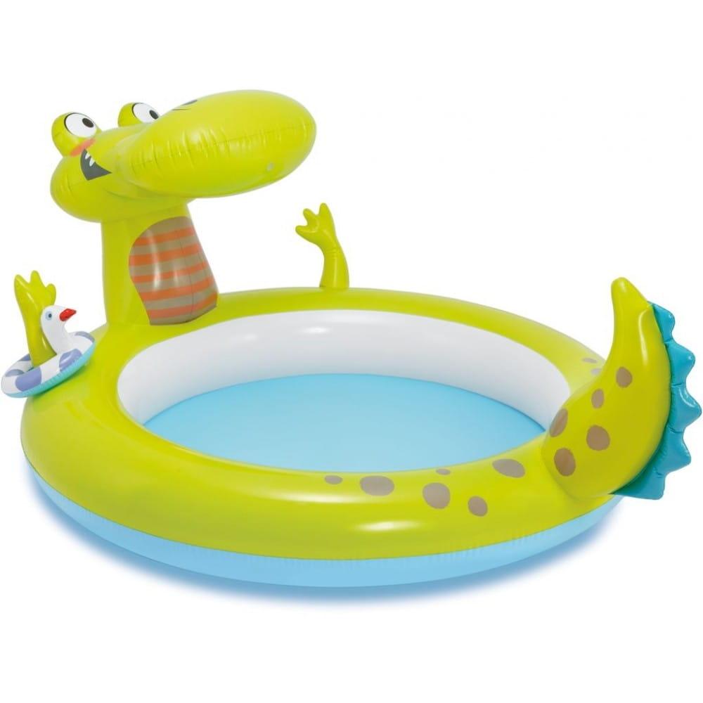 Игровой центр Intex Крокодил с бассейном 198х160х91 см - Бассейны