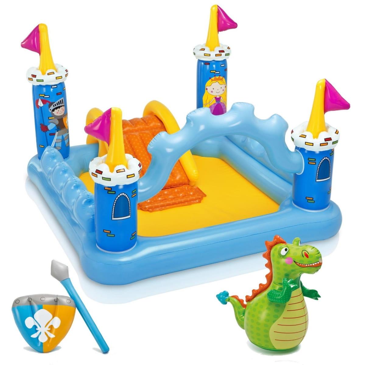 Игровой центр Intex 57138 Замок с горкой 185х152х107 см