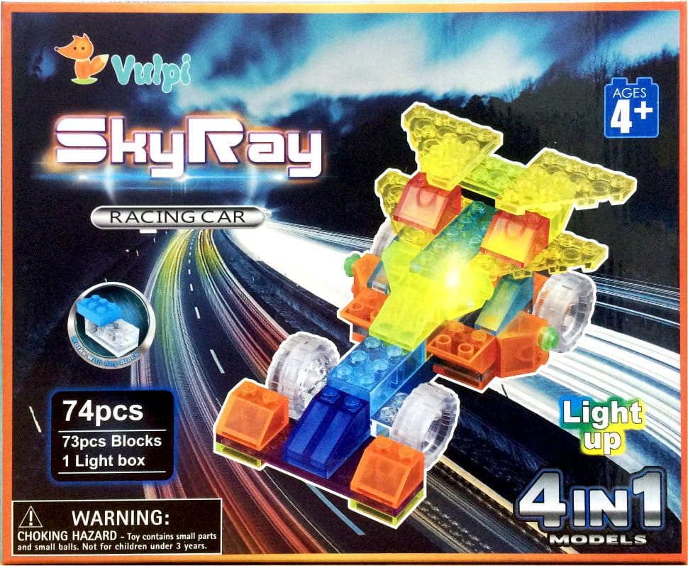 Светодиодный конструктор 4 в 1 Sky Ray Гонка Рейсеров