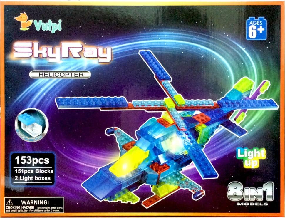 Светодиодный конструктор 8 в 1 Sky Ray Вертолет