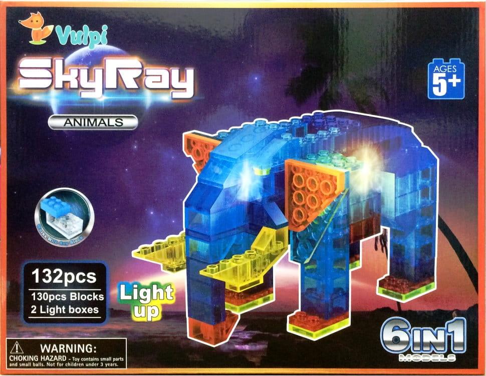 Светодиодный конструктор 6 в 1 Sky Ray В мире животных