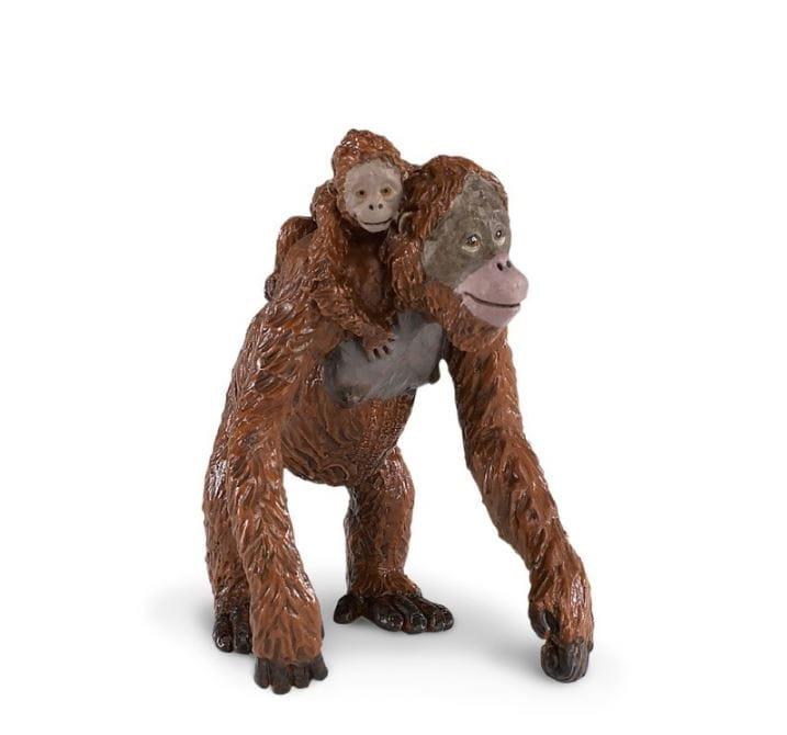 Фигурка Safari 293529 Орангутан с малышом