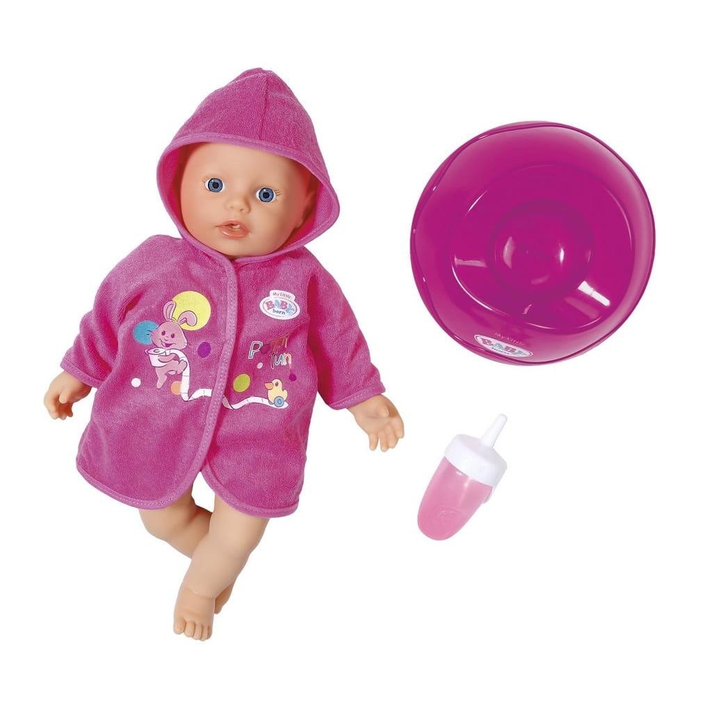 Быстросохнущая кукла BABY BORN с горшком и бутылочкой - 32 см (Zapf Creation)