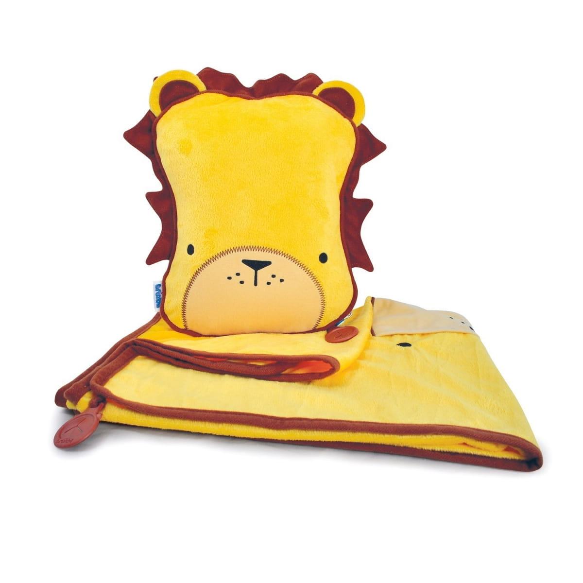 Набор для малыша Trunki 0077-GB01 Подушка с пледом - Лев