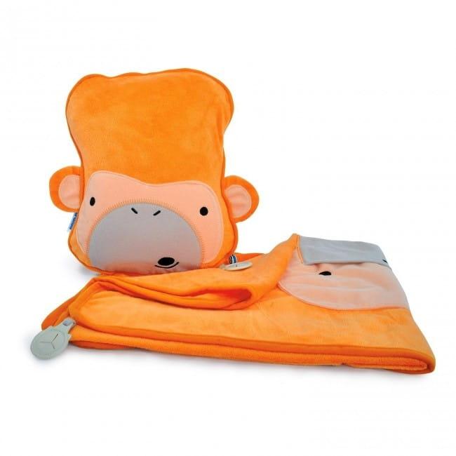 Набор для малыша TRUNKI Подушка с пледом  Обезьянка - Аксессуары для путешествий