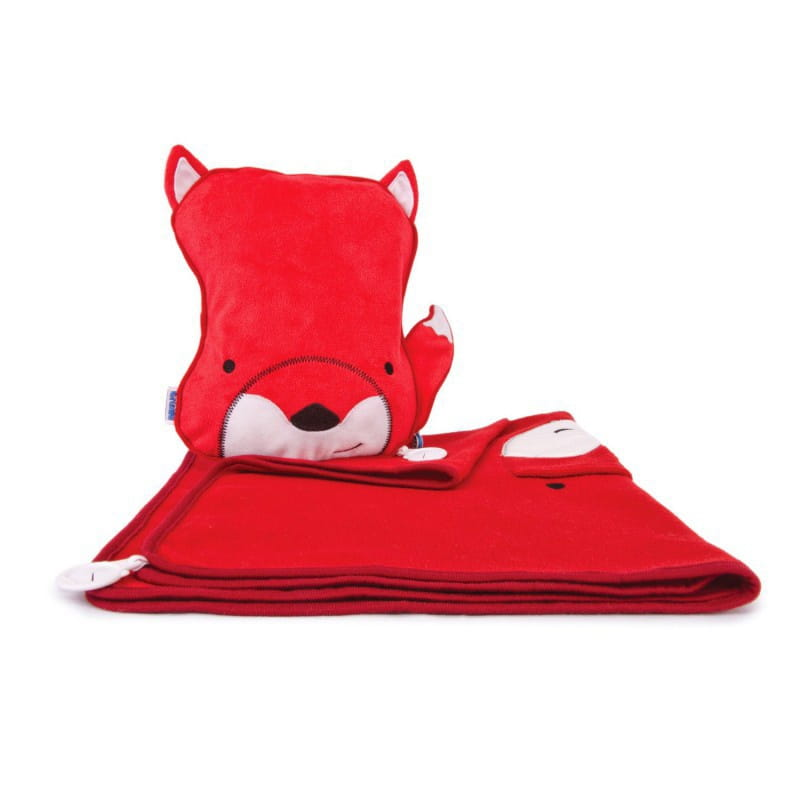 Набор для малыша TRUNKI Подушка с пледом  Хитрый Лис - Аксессуары для путешествий
