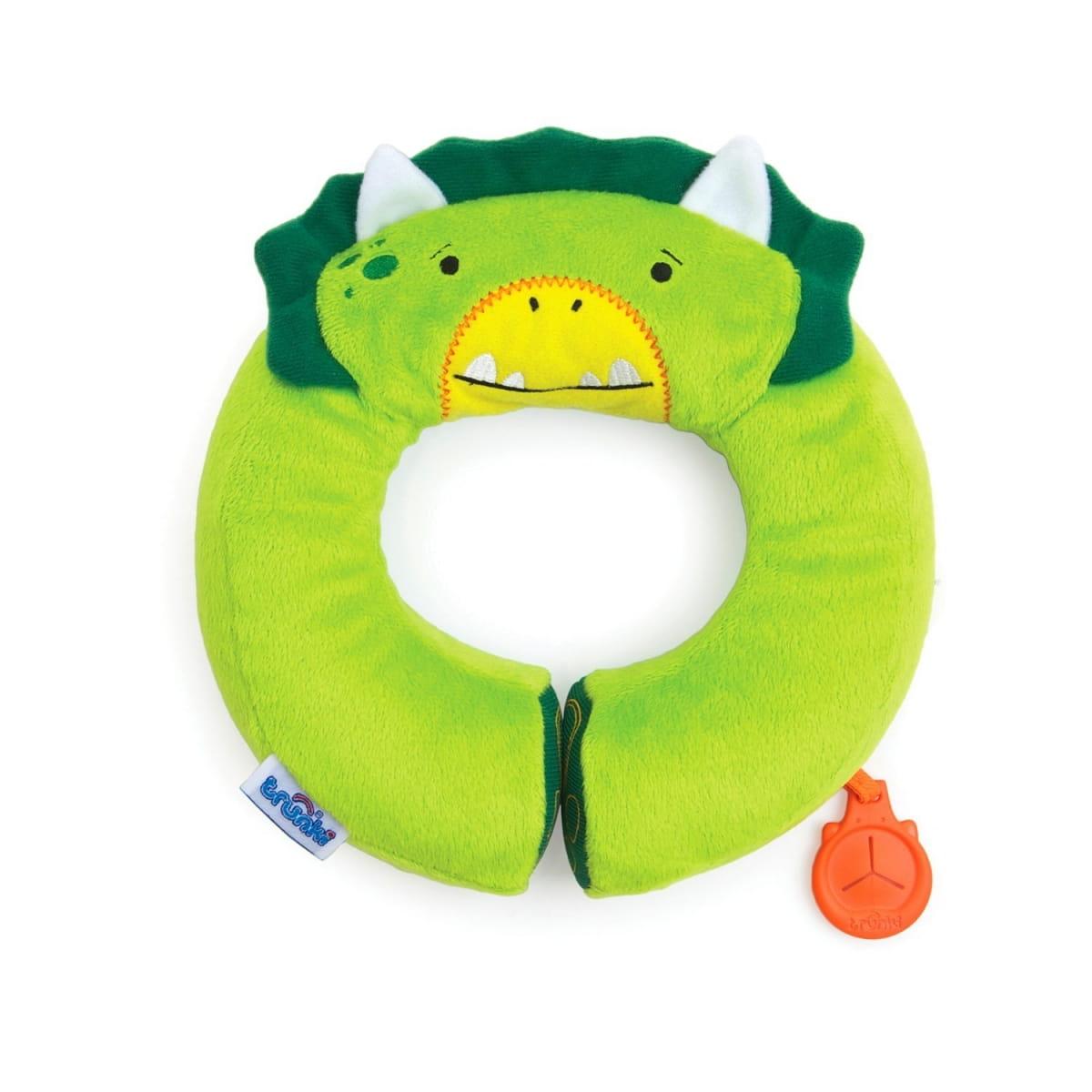 Подголовник TRUNKI Yondi Dino  зеленый - Аксессуары для путешествий