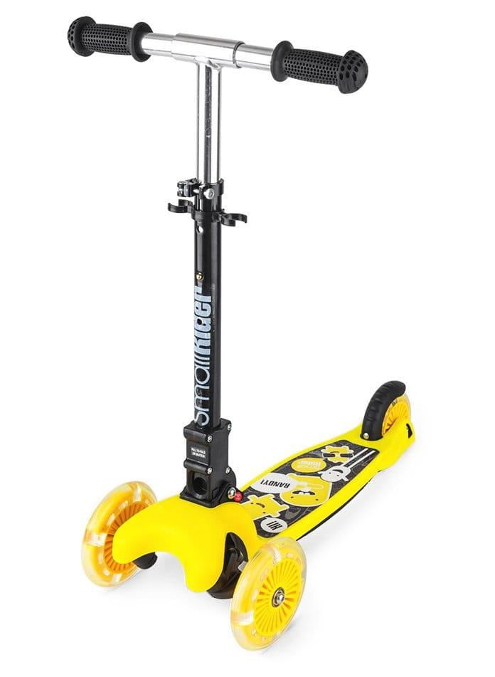 Детский самокат Small Rider 1182658 Randy Flash с светящимися колесами - желтый глянец
