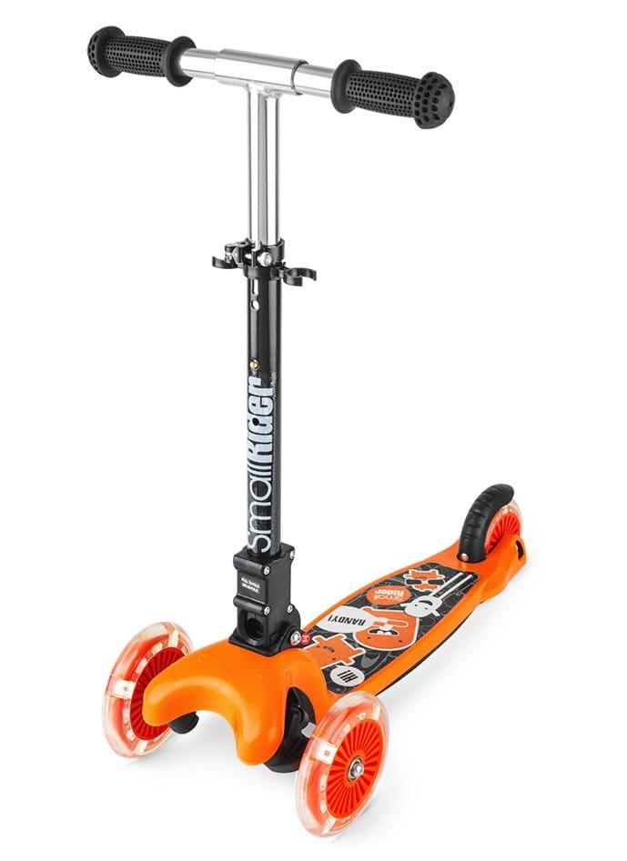 Детский самокат Small Rider 1182658 Randy Flash с светящимися колесами - оранжевый глянец
