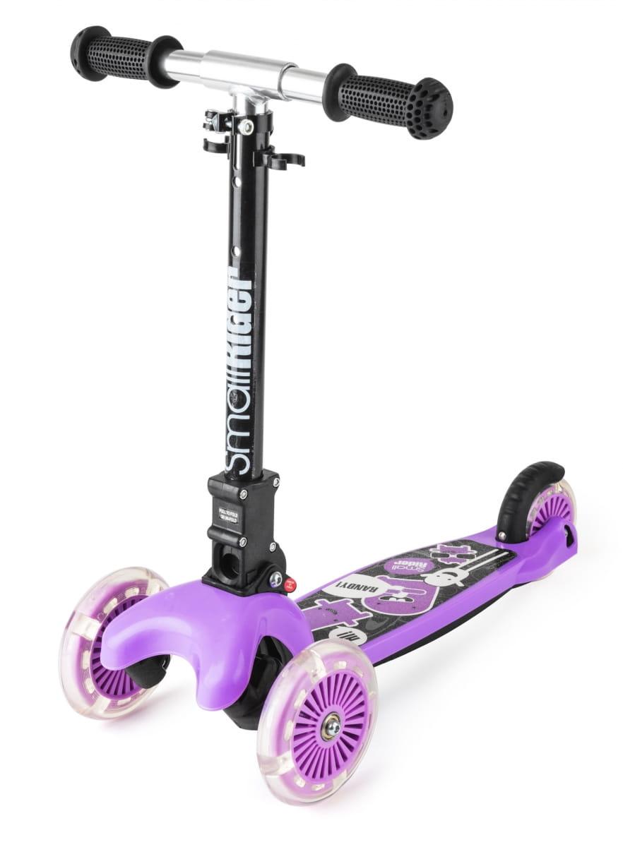 Детский самокат Small Rider 1182658 Randy Flash с светящимися колесами - фиолетовый глянец
