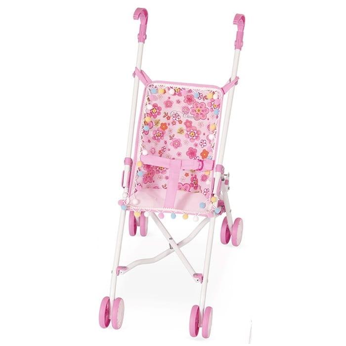 Коляска-трость для кукол Decuevas 90097-3 - 56 см (розовые цветы)